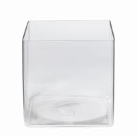 Accubak glas groot vierkant 25 cm