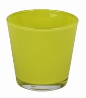 Waxine glas konisch in diverse kleuren