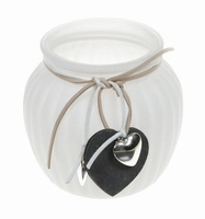 Candleholder van glas Selia White
