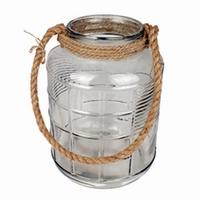 Glas Cruz met touw in 3 afmetingen - Ø 21,5 cm H 34 cm