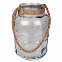 Glas Cruz met touw in 3 afmetingen - Ø 25 cm H 38,5 cm