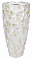 Plantenbak Shell Mother of Pearl wit in 2 afmetingen