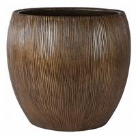 Bloempot Twist brons in drie afmetingen