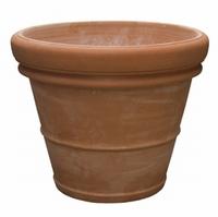 Terracotta plantenbak Doppio Bordo handgemaakt Ø 67 cm