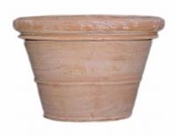 Terracotta plantenbak Doppio Bordo handgemaakt Ø 80 cm