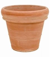 Terracotta plantenbak Doppio Bordo antiek Ø 35 cm