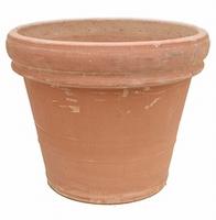 Terracotta plantenbak Doppio Bordo antiek Ø 56 cm