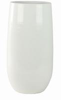 Keramieken vaas hoog Cresta wit 50 cm