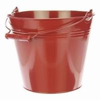 Zinken emmer roodbruin Ø 24,5 cm