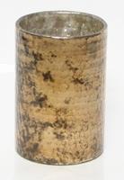 Candleholder Oxidise gold 17 cm MAR10