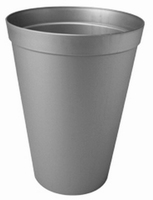 Plastic vaas zink kleur XL