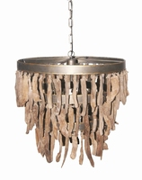 Hanglamp Branch brown wooden hanging lamp PTMD