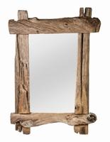 Spiegel Blair natural wooden mirror rectangle balk PTMD