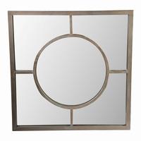 Spiegel Mazz Brass mirror iron base square PTMD