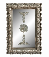 Spiegel Mary silver poly rectangle mirror with print PTMD