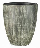 Keramieken vaas Congo bruin ovaal 50 cm