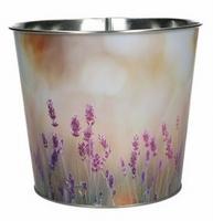 Zinken pot met lavendel print veld motief