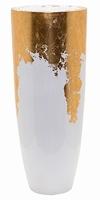 Plantenbak Luxe Lite Glossy wit bladgoud 75 cm