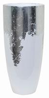 Plantenbak Luxe Lite Glossy wit bladzilver 75 cm