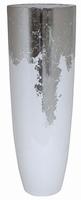 Plantenbak Luxe Lite Glossy wit bladzilver 115 cm
