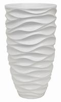 Plantenbak Luxe Lite Glossy Sea white 60 cm