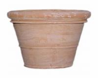 Terracotta plantenbak Doppio Bordo handgemaakt Ø 90 cm