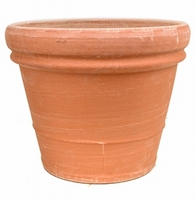 Terracotta plantenbak Doppio Bordo antiek Ø 65 cm