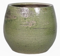 Keramieken bloempot Lynn groen 27 cm