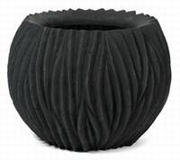Bloempot River bowl zwart 75 cm