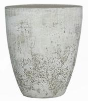 Keramieken vaas Dick beton wit 50 cm