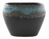 Keramieken plantenbak Liza blue black 25 cm