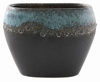 Keramieken plantenbak Liza blue black 28 cm