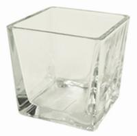 Accubak glas vierkant konisch heavy glas 14 cm