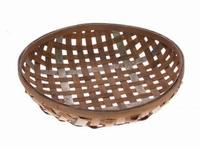 Schaal van gevlochten hout