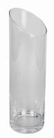 Cilinder vaas glas met schuine bovenkant