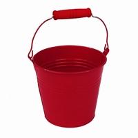 Zinken emmertje rood Ø 5,5 cm
