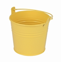 Zinken emmertje geel mat Ø 10,3 cm