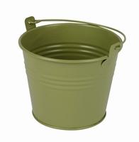 Zinken emmertje groen mat Ø 10,3 cm
