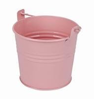 Zinken emmertje roze glans Ø 10,3 cm