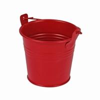Zinken emmertje rood mat Ø 8,2 cm