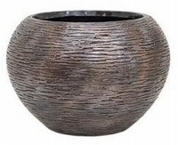 Plantenbak Universe Wrinkle globe bronze 39 cm Luxe Lite