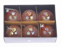 Kerstballen oranje 6 cm