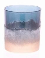 Waxinehouder van glas poeder blauw goud