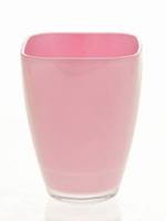Glaspot gekleurd roze heavy glas