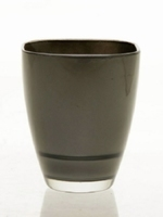 Glaspot gekleurd antraciet heavy glas