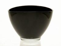 Glaspot ovaal zwart heavy glas
