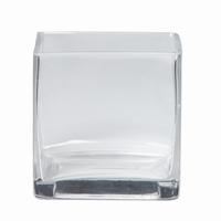 Accubak glas vierkant heavy glas recht 8 cm