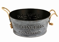 Zinken schaal Flowers and Garden in 2 afmetingen