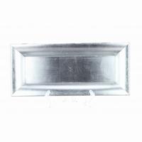 Schaal kunststof rechthoek zilver