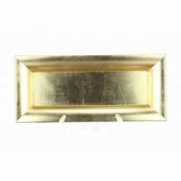 Schaal kunststof rechthoek goud